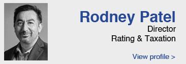 Rodney Patel link to profile page, nameplate